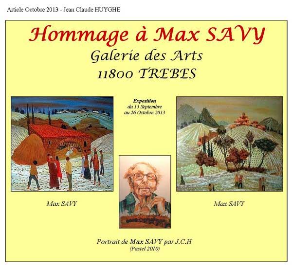 Hommage à Max SAVY