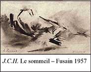 J.C.H.-Le-sommeil-–-Fusain-1957