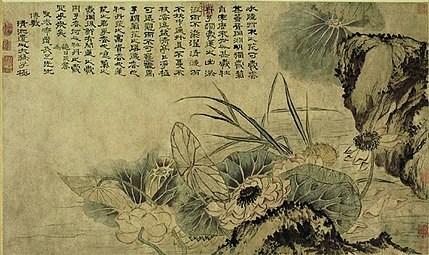 Sur l'étang au lotus