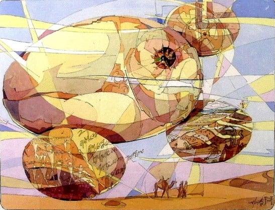 1997- Création du monde (Plume Aquarelle)